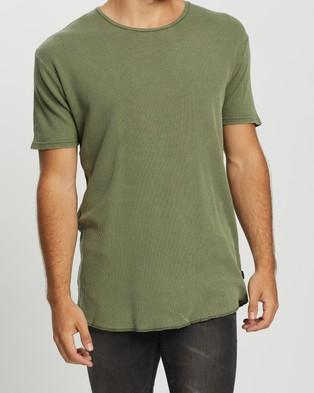 Silent Theory Acid Waffle Tee 2 Pack - T-Shirts & Singlets (Washed Black & Khaki)