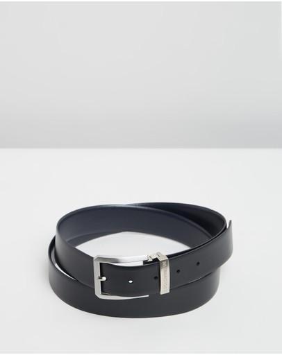 Emporio Armani Saffiano Belt Black