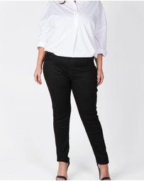 Love Your Wardrobe - Jet Black Stretch Jeans