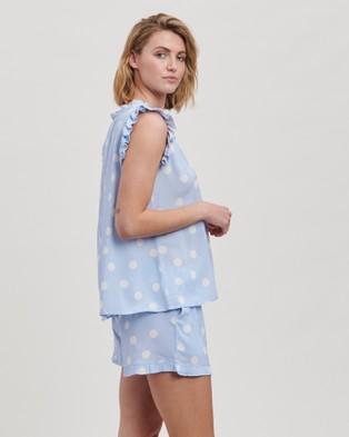 Project REM Bluebell Spot Frill Pyjama Shorts Set - Two-piece sets (Bluebell Spot Print)