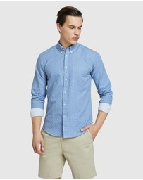 Oxford - Uxbridge Linen Cttn Star Prt Shirt