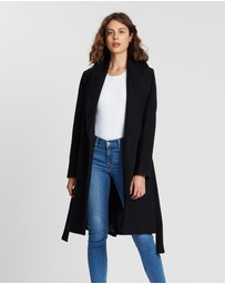 Atmos&Here - Audrey Wool Blend Waisted Coat