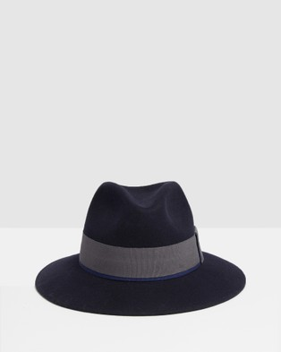 Kate & Confusion Classic Fedora - Hats (Navy)