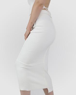 Dakota501 Deconstructed Midi Skirt - Skirts (Off White)