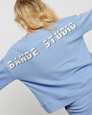 BANDE STUDIO - Peached Cotton Sweat Sweats (Cornflower Blue)