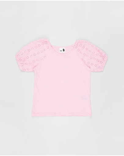 Cotton On Kids - Isabella Puff Sleeve Top - Kids-Teens