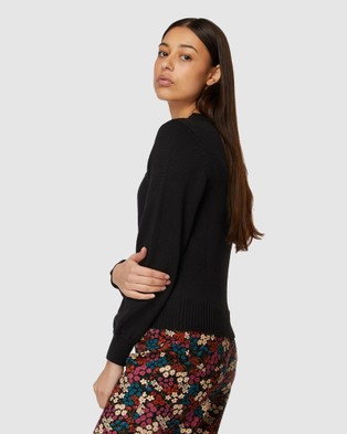 Princess Highway Cordelia Sweater - Sweats & Hoodies (Black)