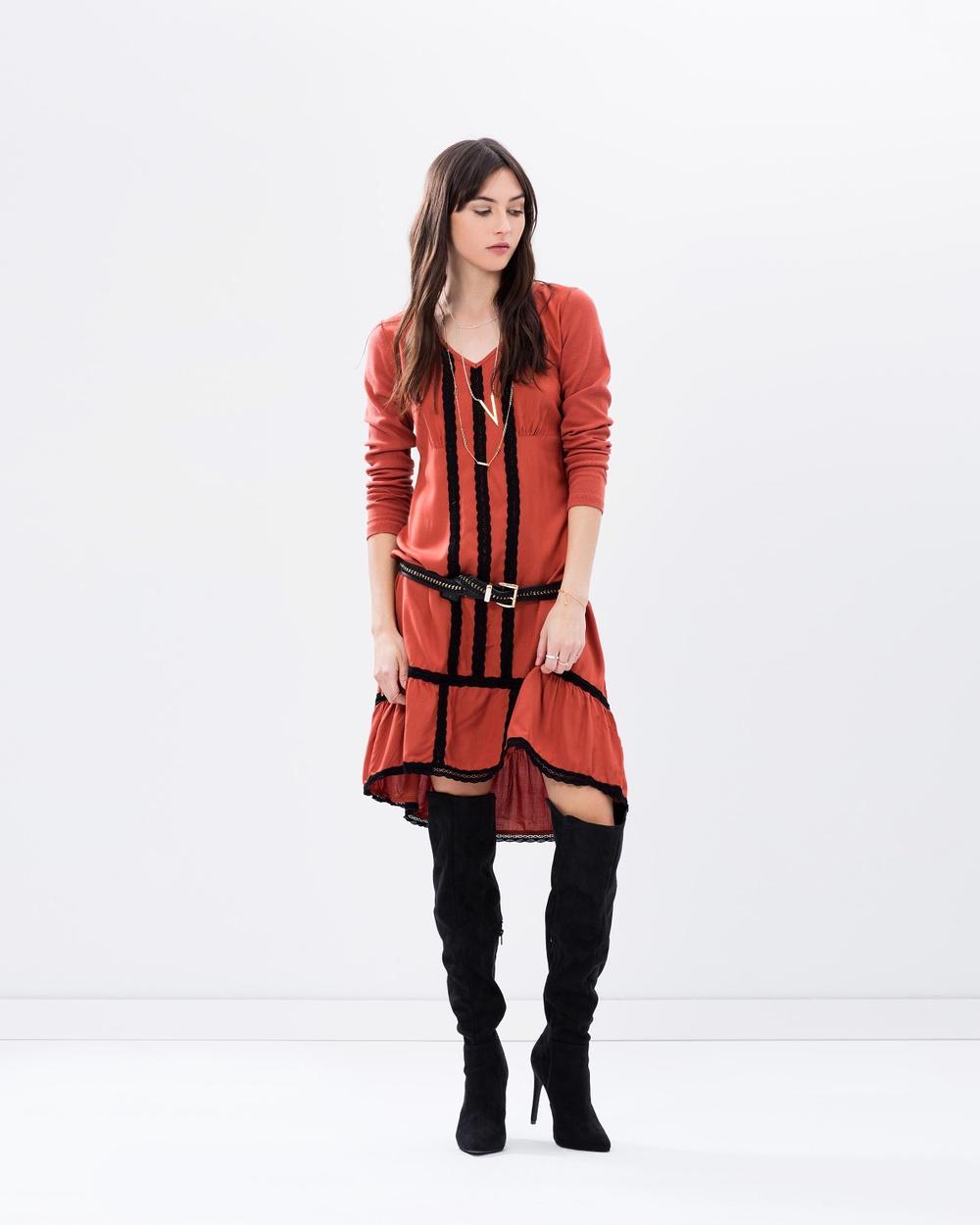 Kaja Clothing Carlotta Dress Dresses Burnt Orange Carlotta Dress