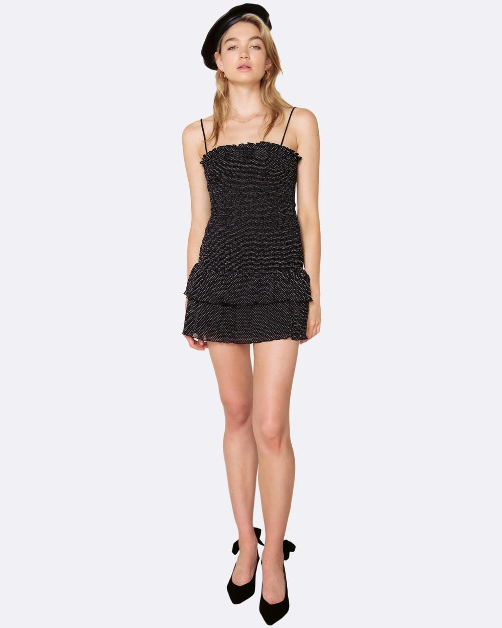 The East Order Tia Mini Dress Dresses Black Tia Mini Dress