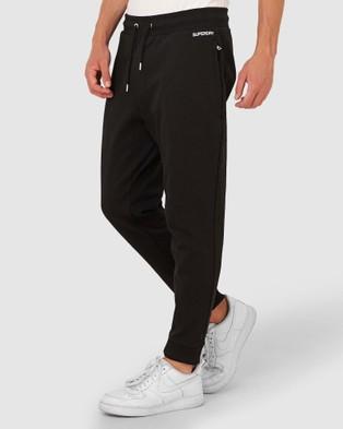 Superdry Micro Logo Loose Taper Joggers - Track Pants (Black)