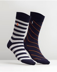 Polo Ralph Lauren - 2-Pack Bar Stripe Rugby Socks
