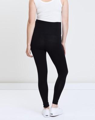 LOVE2WAIT Maternity Leggings - Full Tights (Black)