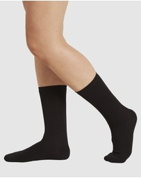 Boody Organic Bamboo Eco Wear - 4 Pack Everyday Sock Black