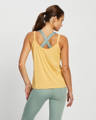 Nimble Activewear Bind Tank - Muscle Tops (Ochre)