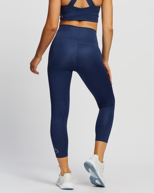 Nimble Activewear High Rise 7 8 Tights - 7/8 Tights (Blue Indigo Pebble)