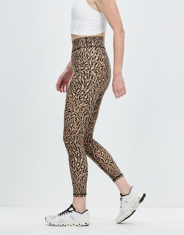 Women Leopard Midi Pants