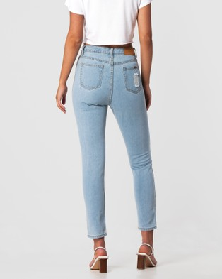 ONEBYONE Brittany Jeans - High-Waisted (Blue)