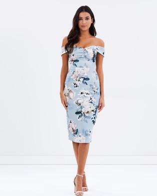 Pasduchas – Juliette Shoulder Midi Dress – Dresses (Smoke)