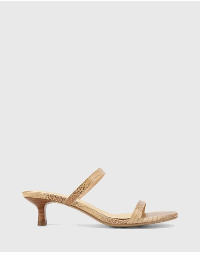 Wittner - Jay Leather Low Stiletto Sandals