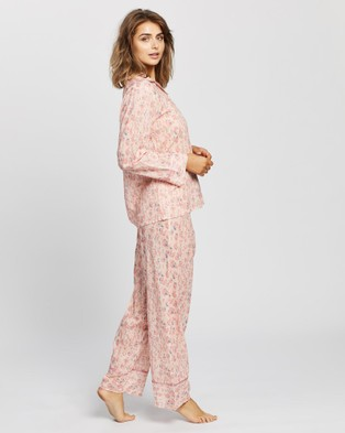 Papinelle Cheetah Full Length PJ Set - Two-piece sets (Pink)