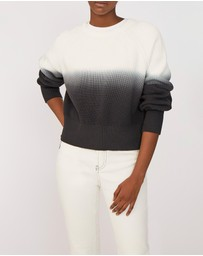 BY JOHNNY. - Daria Dip Dye Cotton Crop Sweater