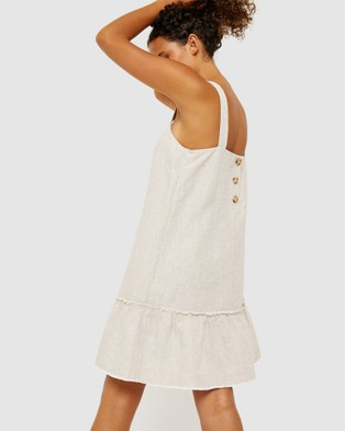 Jag Cassie Linen Drop Waist Dress - Dresses (neutrals)