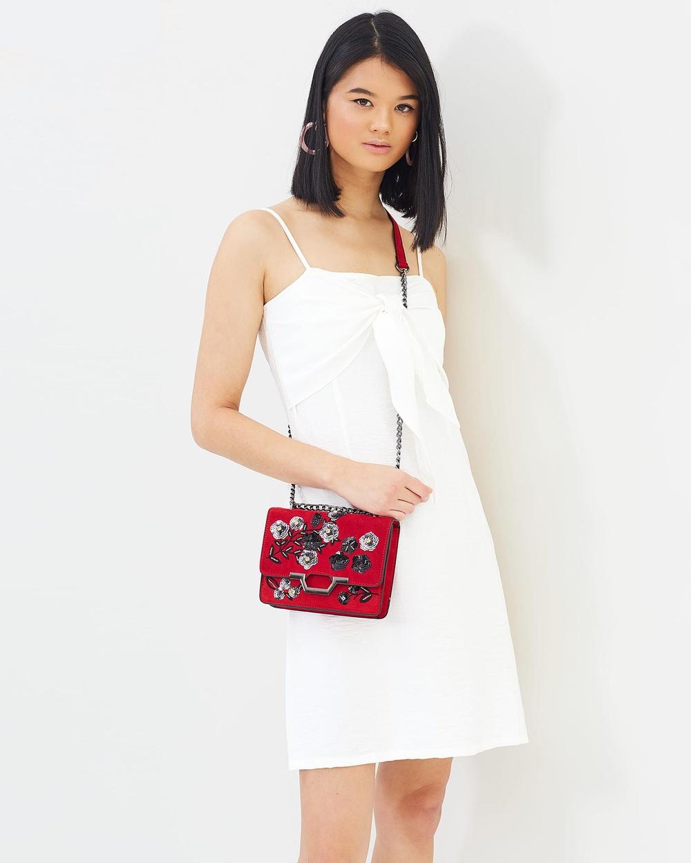 Otto Mode Prism Tie Dress Dresses White Prism Tie Dress