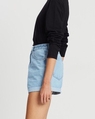Assembly Label Rolled Hem Shorts - Denim (Pacific Blue)