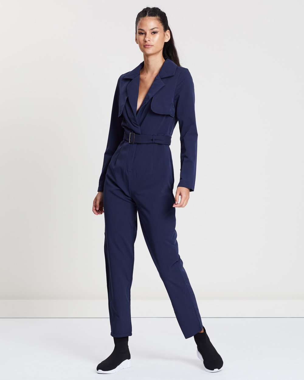 c5818a01513b Belted Utility Jumpsuit by Missguided Online