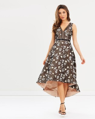 Love Honor – Talita Dress – Bridesmaid Dresses (Black Floral & Nude)