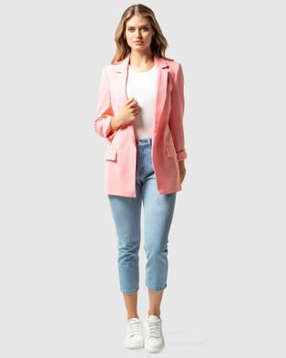 Forever New Ava BF Blazer - Blazers (Pink Caddy)