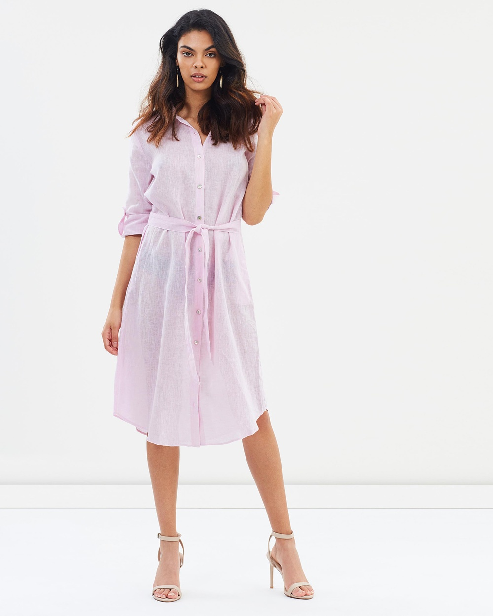 Wite Isabel Shirt Dress Dresses Pink Mist Isabel Shirt Dress