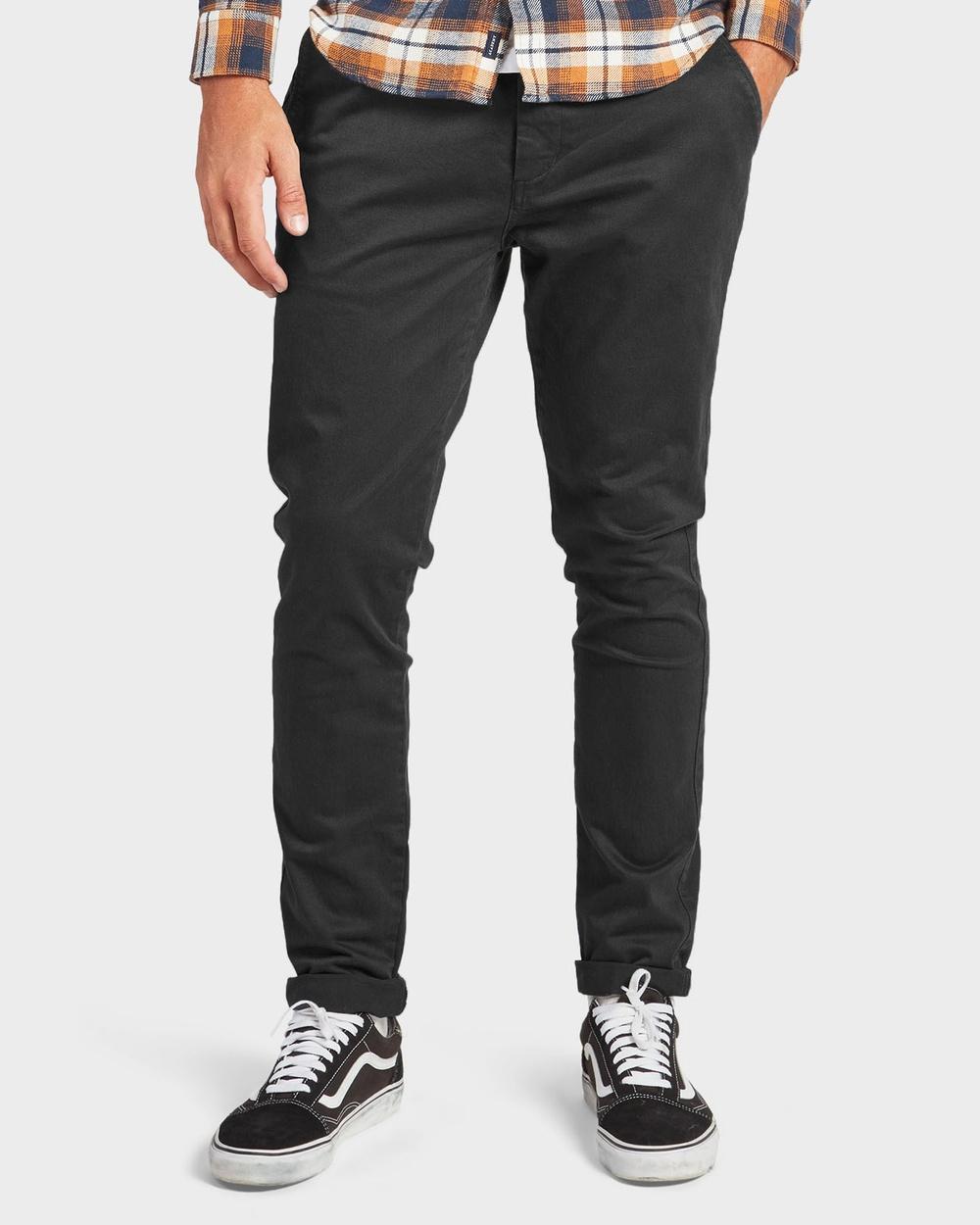 Academy Brand Skinny Stretch Chino Pants Black