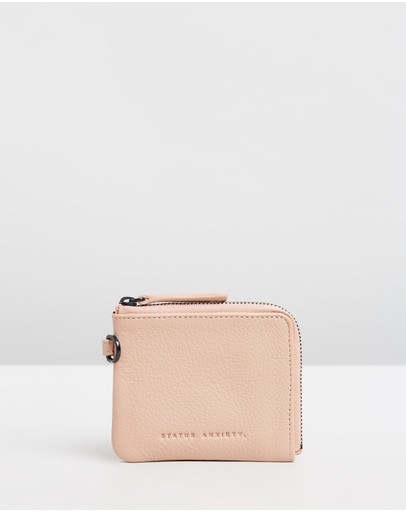 Status Anxiety Part Time Friends Zip Wallet Dusty Pink