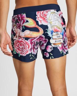 TEAMM8 Tattoo Swim Shorts - Swimwear (Navy)