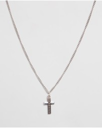 Icon Brand - Curb Chain Necklace with Cross