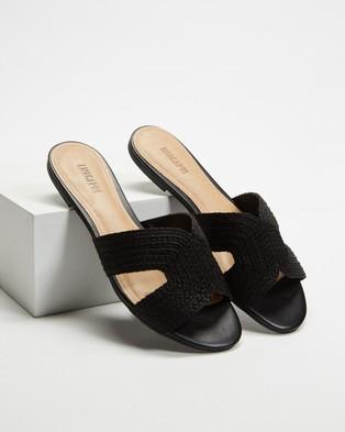 Anacapri - Natural Slides Sandals (Preto)
