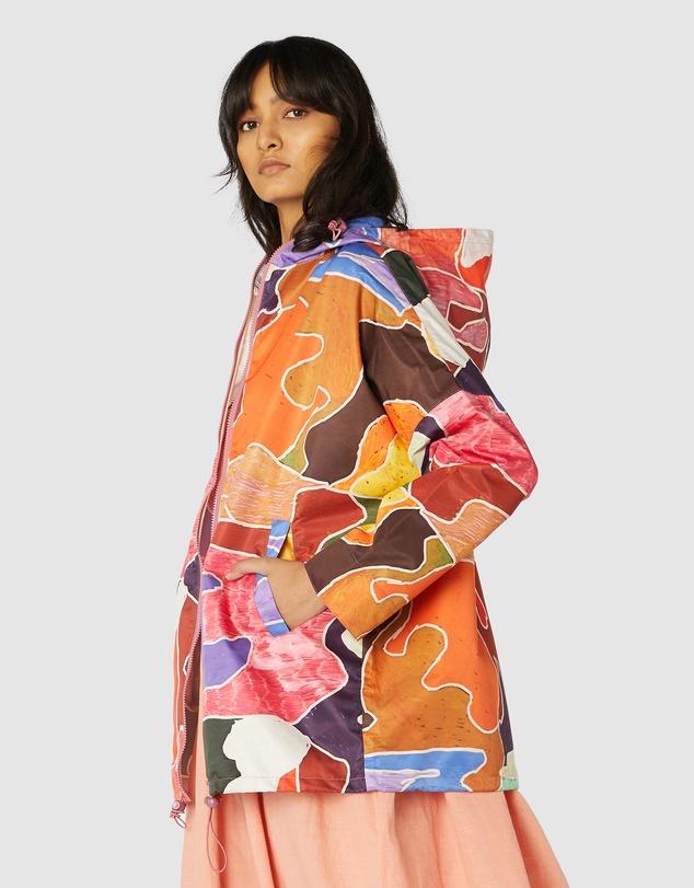 Women Jigsaw Raincoat