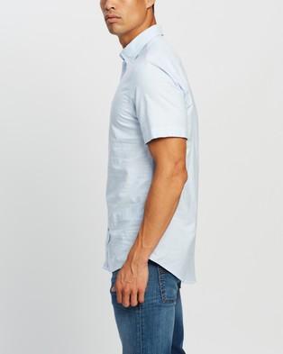 Tommy Hilfiger Light SS Oxford Shirt - Casual shirts (Calm Blue)