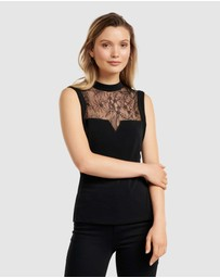 Forever New - Jenna Lace Spliced PM Top
