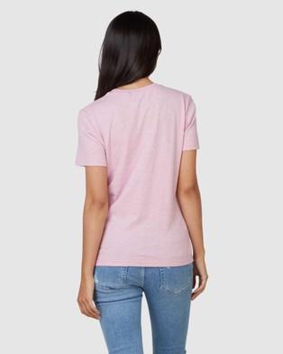 Superdry Vintage Logo Pastel Tee - T-Shirts (Montauk Pink)