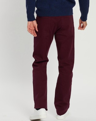 Kent and Curwen Loose Fit Pants - Pants (Red)