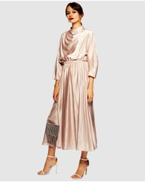 TOPSHOP - Satin Ovoid Midi Dress
