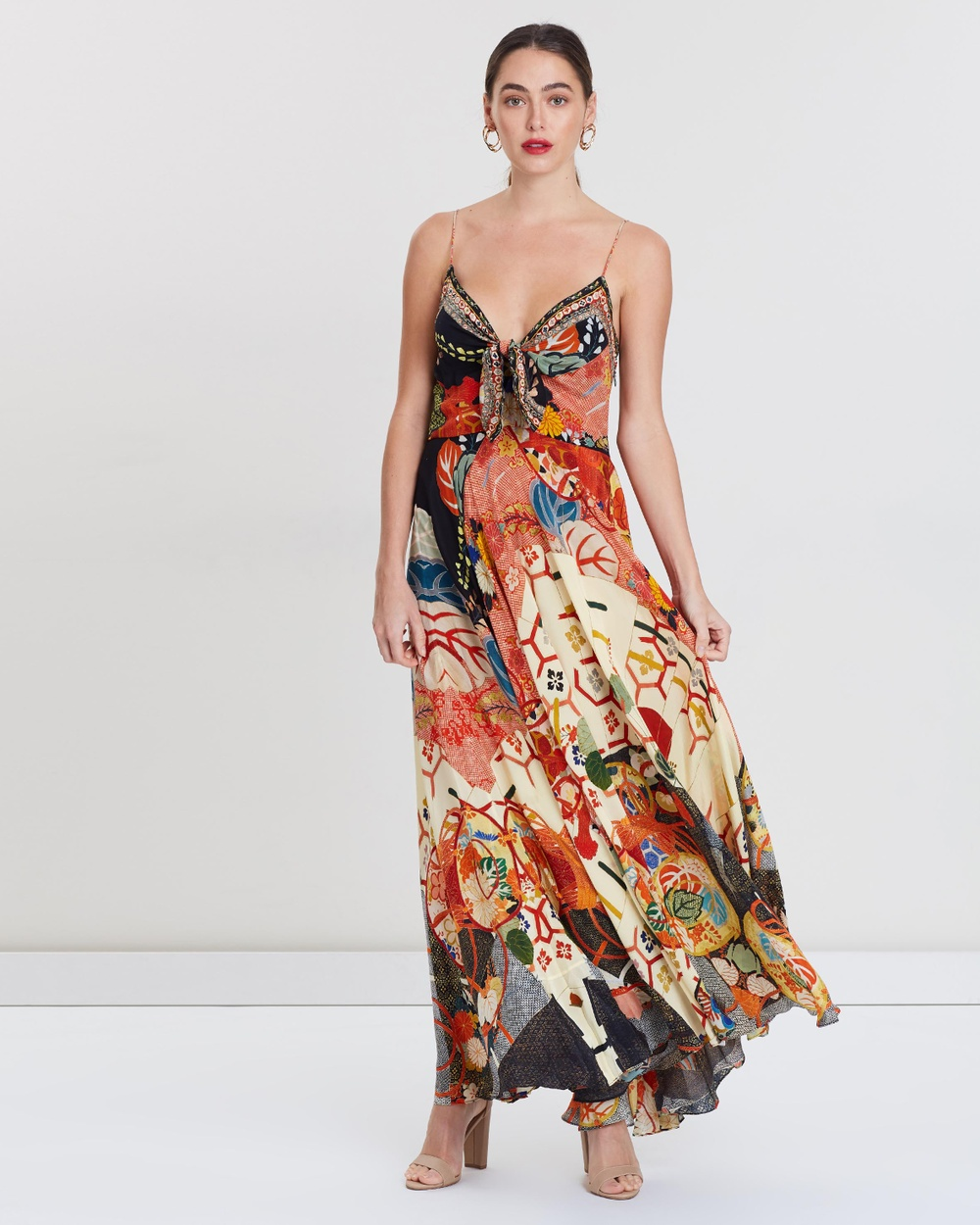 Camilla Kissing The Sun Long Dress with Tie Front