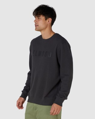 Elwood Mens Huff N Puff Crew - Sweats & Hoodies (Black)