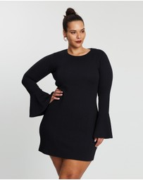 Atmos&Here Curvy - Piper Crew Neck Mini Dress