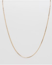 Chained & Able - Sterling Silver Old English Plain Flat Curb Chain