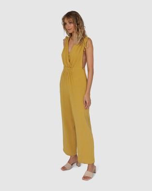 Lost in Lunar  Eloise Jumpsuit - Jumpsuits & Playsuits (Mustard)