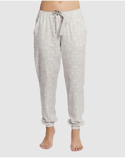 Deshabille Sleepwear Folklore Lounge Pj Pants Pebble/ivory