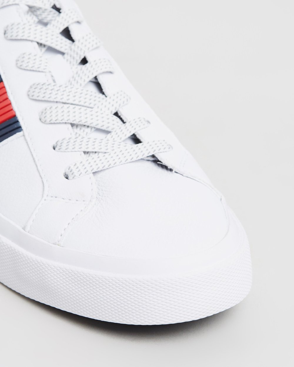 245669a2cee3 Flag Detail Leather Low Top Sneakers by Tommy Hilfiger Online